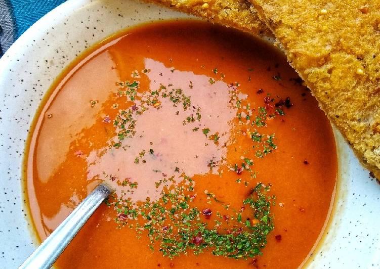 Butternut Squash & Sweet Potato Soup With Chilli