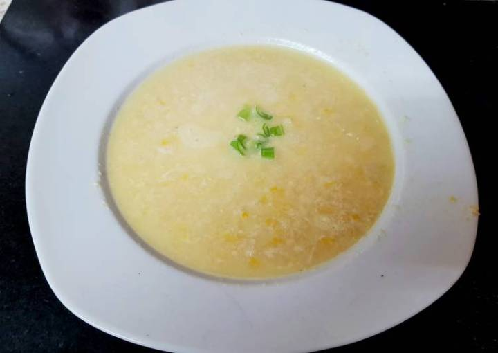 My Chicken Sweetcorn Soup. 😘
