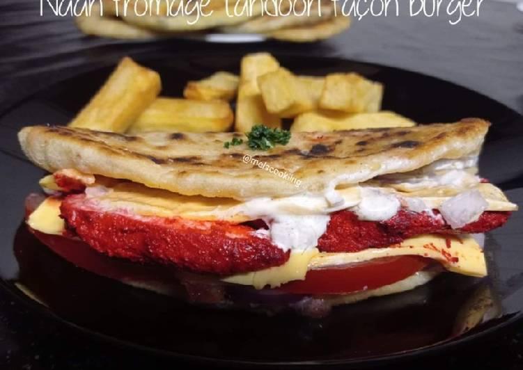 Naan fromage tandoori façon burger