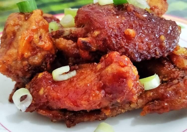 Easy Dakgangjeong (Korean Spicy Fried Chicken)