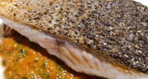 Pan-fried Salmon With Fresh Tomato Pesto