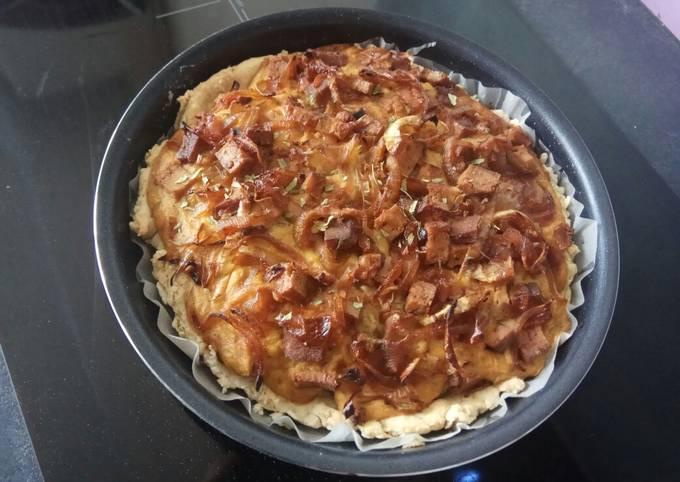 Vegan Caramelized Onion Quiche