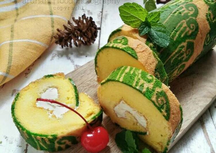 Batik Roll Cake (#BeraniBaking)