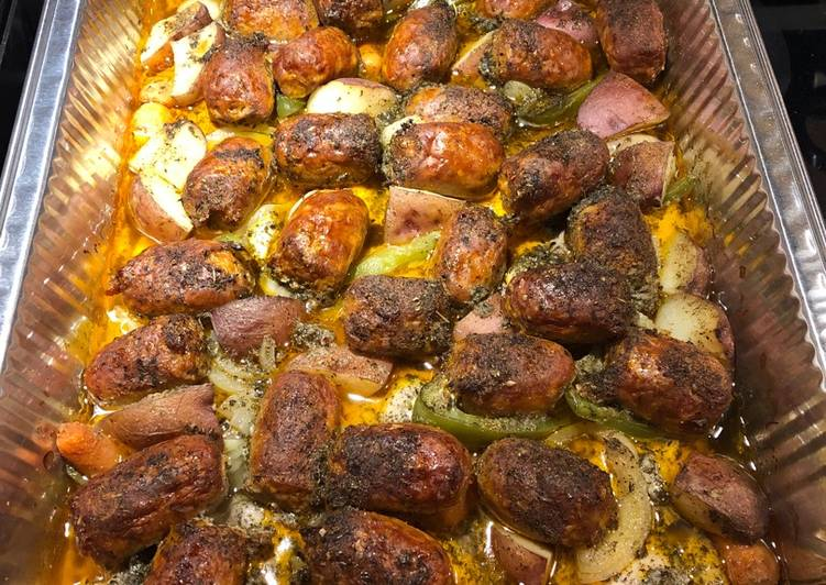 Roasted Chicken Thighs with Hot Italian Sausage
