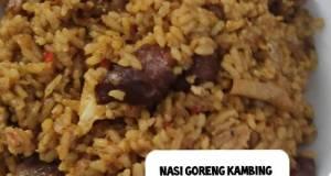 Nasi goreng kambing (dari sisa sate kambing)