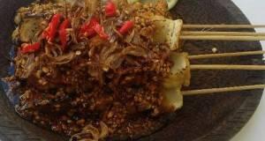 Sate Bakso Tahu Bumbu Kacang (#postingrame2_sate)