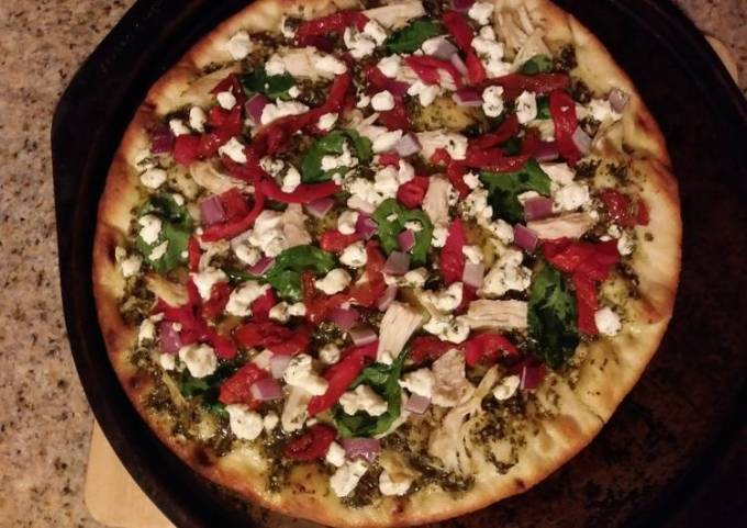 Pesto Flatbread Pizza