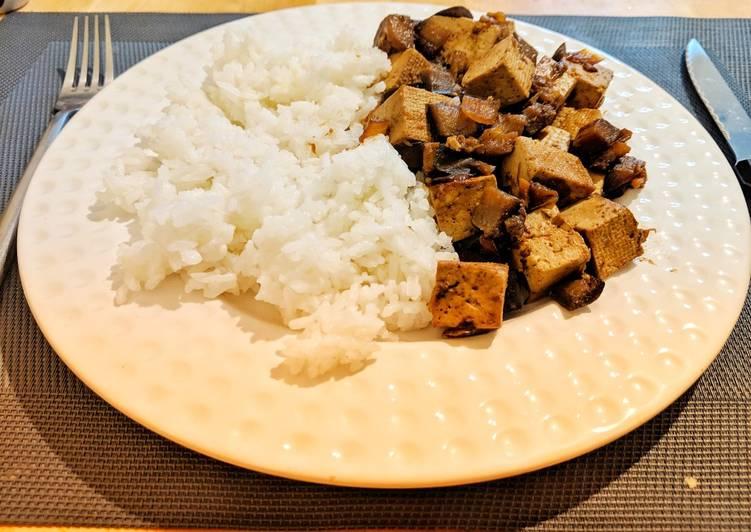 Tofu aubergine au soja
