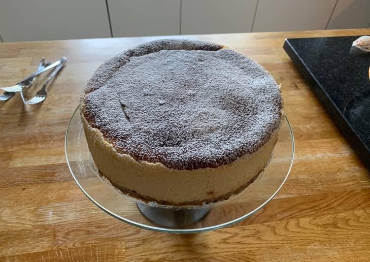 Bake New York cheese cake