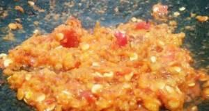 Sambal geprek kacang ala2 ayam gebug & pak gembus