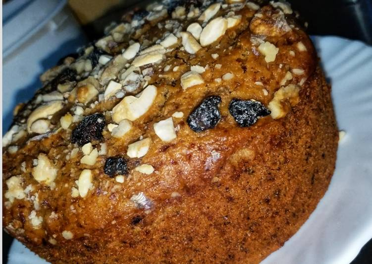 Healthy Wheat Date Nutty cake
