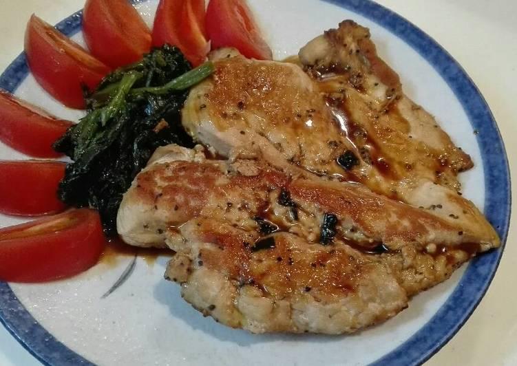 Simple Japanese Chicken Steak