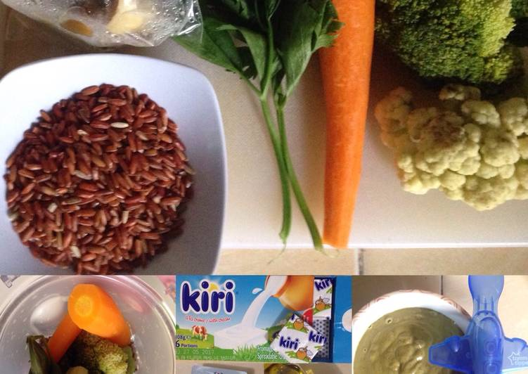 Porridge with chicken liver and veggies | mpasi abimanyu | 7m+
