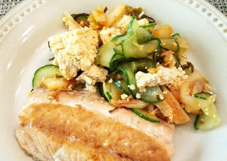 Tofu Kimchi Salad