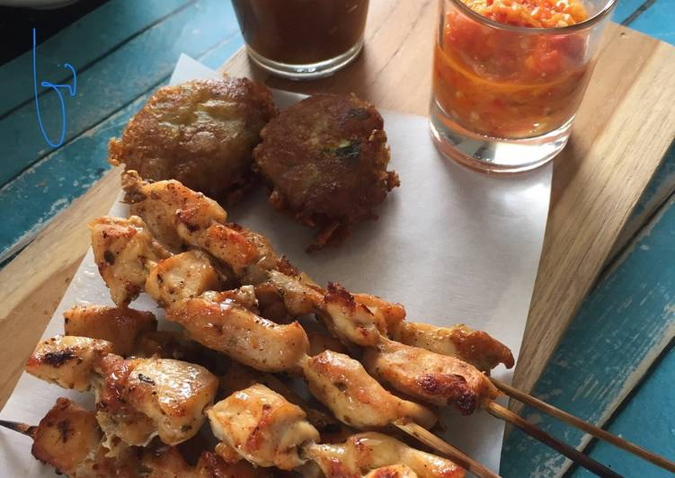 Chicken Satay ft Tomato Sambal #Pekaninspirasi