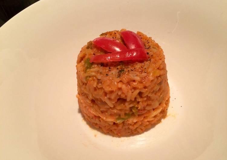 Riz aux légumes et tomate concentrée