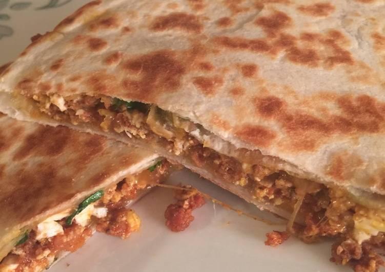 Chorizo n Egg Quesadillas