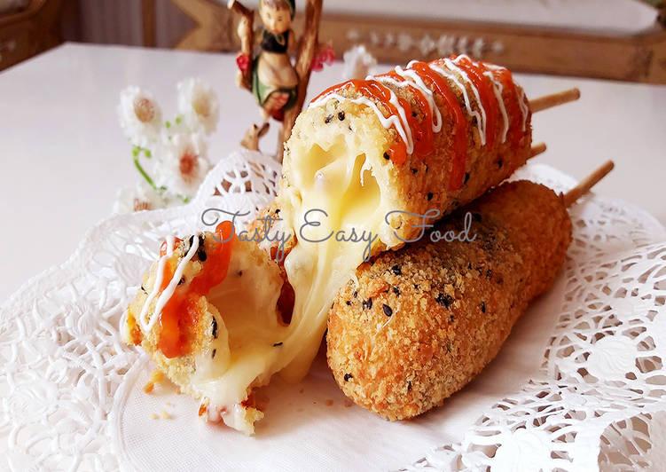 Resep Corn Dog Sosis Mozarella | Mozzarella Sticks