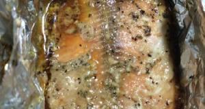 Baked brown sugar/soy sauce pink salmon fillets