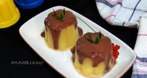 Pudding jagung vla coklat