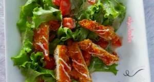 Salad Sayur Chiken Katsu With Kewpie Salad Dressing
