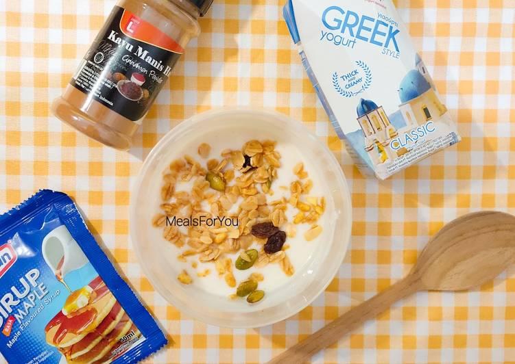 Yogurt Cinamon Granola - Resep diet