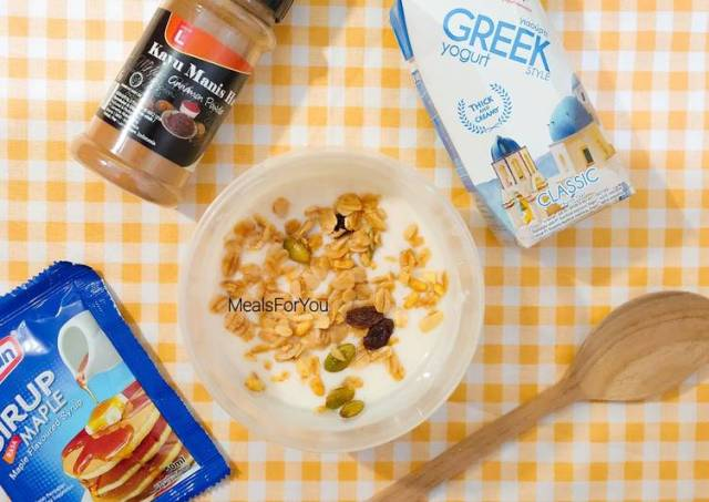 Yogurt Cinamon Granola - Resep diet