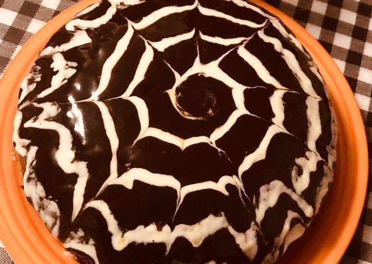 Spider Web Chocolate cake