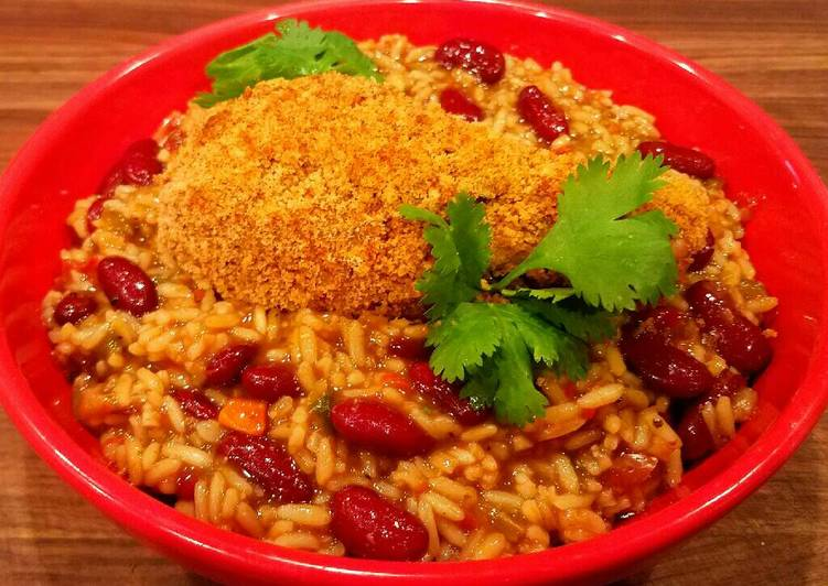 Mike's Crispy Cajun Legs Over Red Beans & Rice