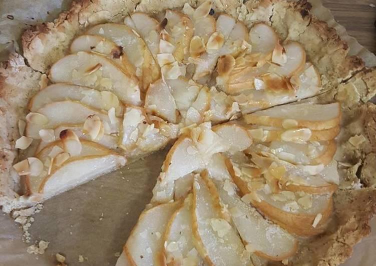 Tarte aux poires amandes sans gluten