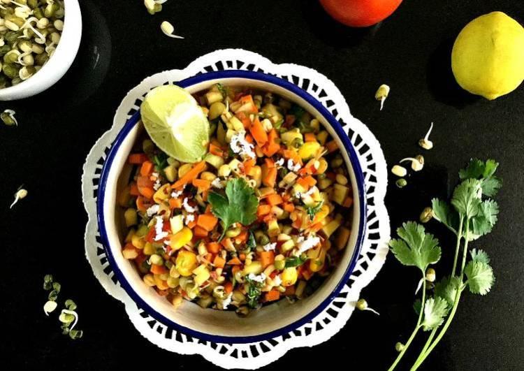 Mango, Sweet Corn and Mung Bean Sprouts Salad