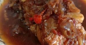 Ikan kakap merah kecap saos tomat