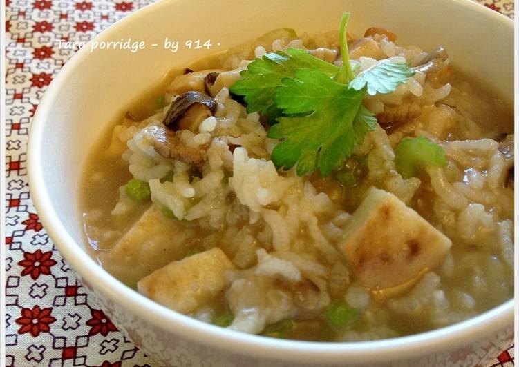 Joyce - 914 發表的 Taro porridge.芋頭香菇褒鹹粥 食譜 - Cookpad