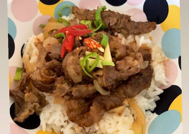 Gyudon beef - Yoshinoya wannabe