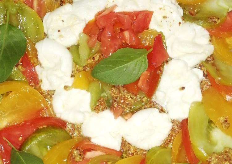 Tarte tomate mozzarella et basilic