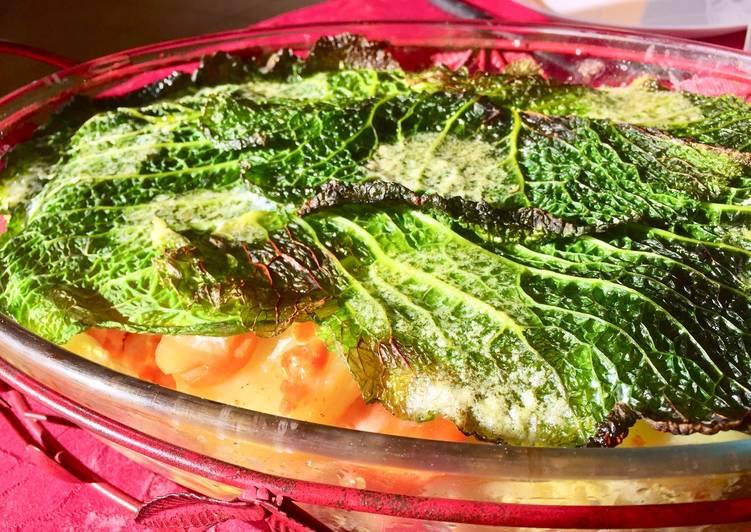 Lasagnes de chou aux légumes d'hiver