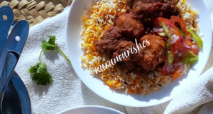 Beef Biryani Curry With Pawpaw