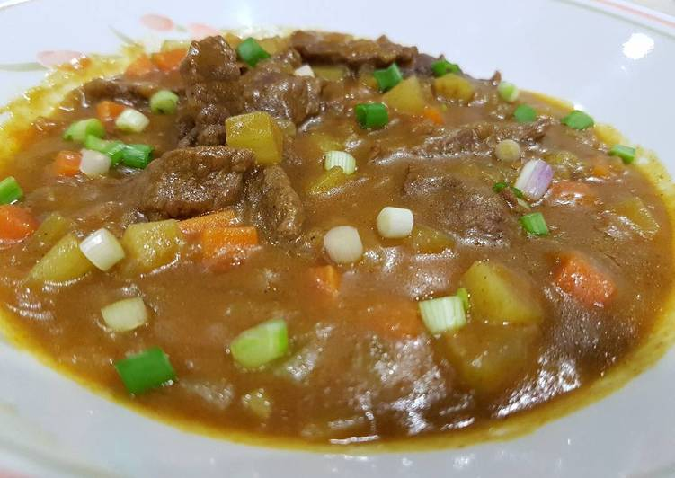 Japanese Curry with Beef (from scratch)