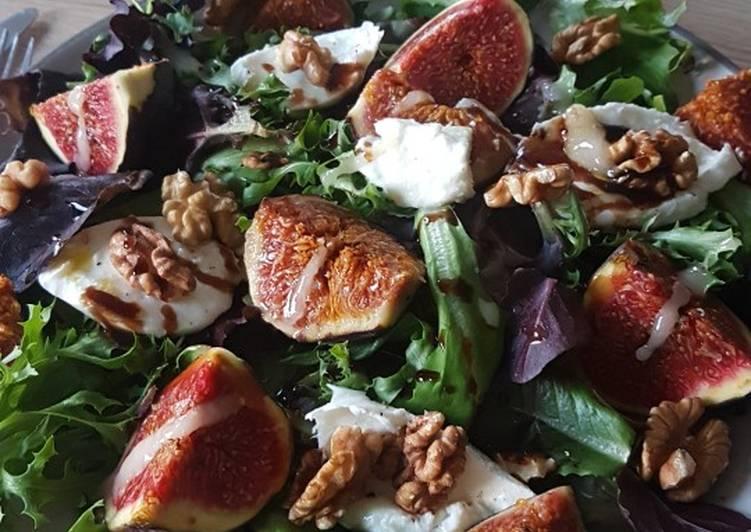 Salade rapide figue mozzarella