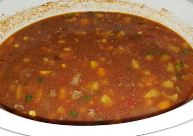 Slow Cooker Simple Beef Taco Soup