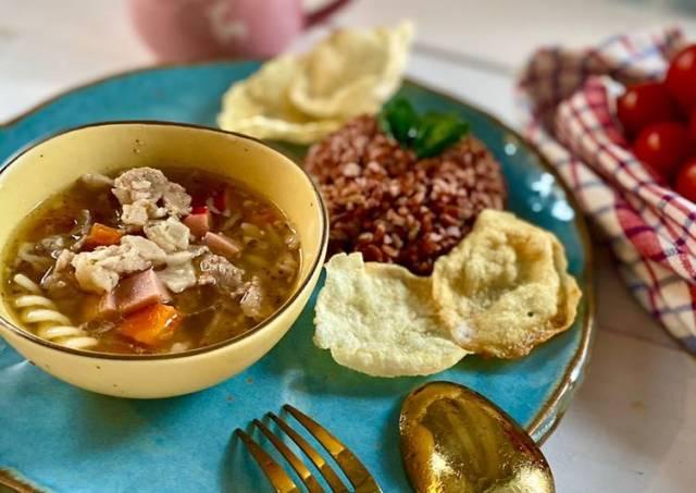 Sup daging cincang