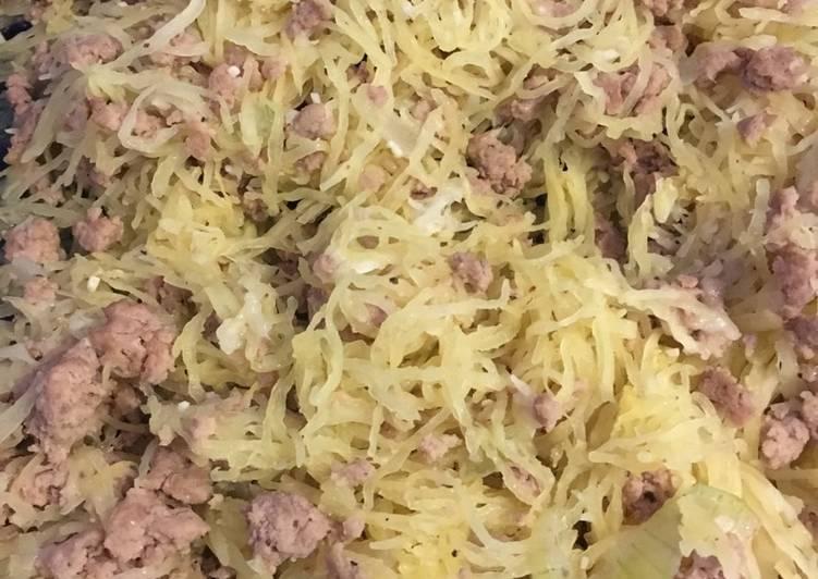 Spaghetti squash with Turkey