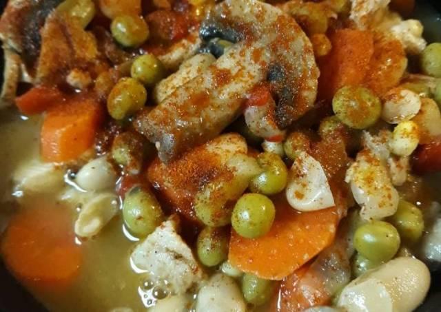 Chicken Fajita Soup without Tortillas