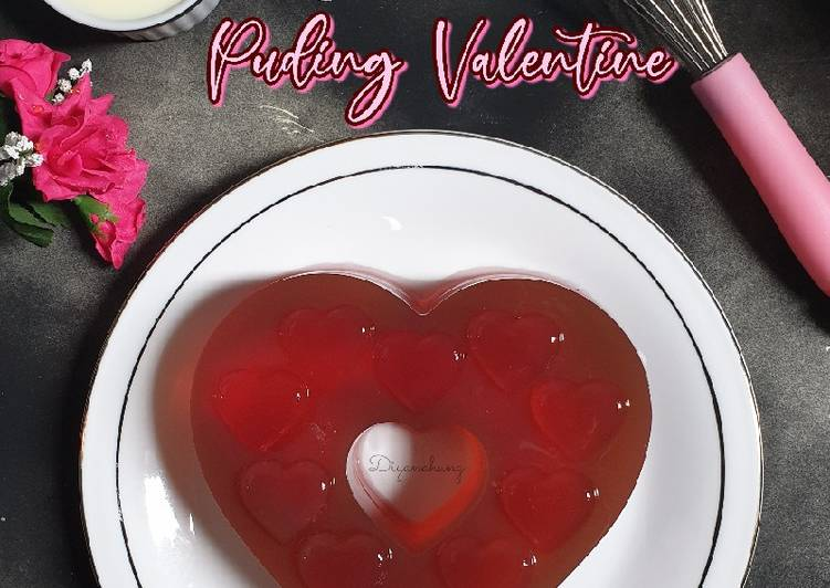 Puding Valentine