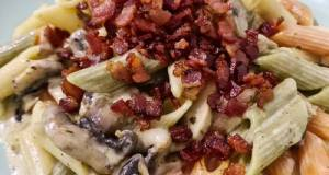 Guilty Creamy Pasta With Crispy Bacon