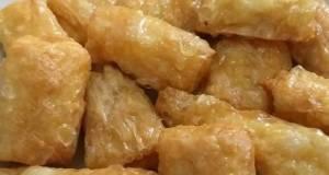 Cakien goreng (bakso goreng kulit tahu)