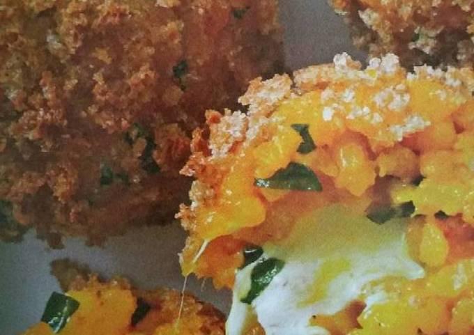 """Un-Fried Rice Balls """"Arancini"""" by Rocco Dispirito pg. 72"""