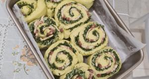 60. Pesto Bacon Bread Roll