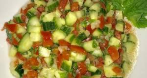 Moroccan Cucumber Tomato Salad