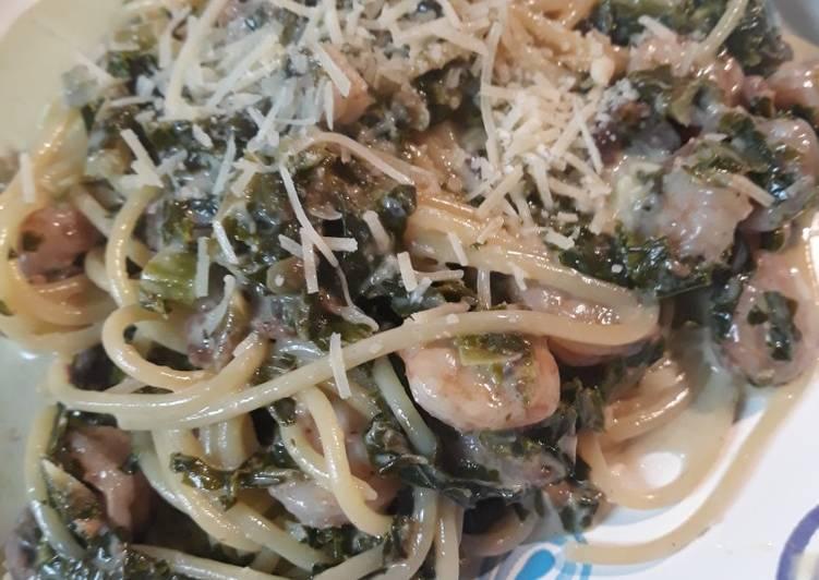 Shrimp and Kale Pasta